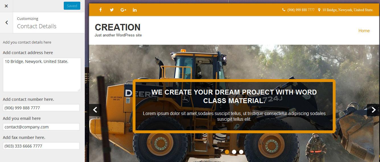 Creator World PRO Theme Documentation