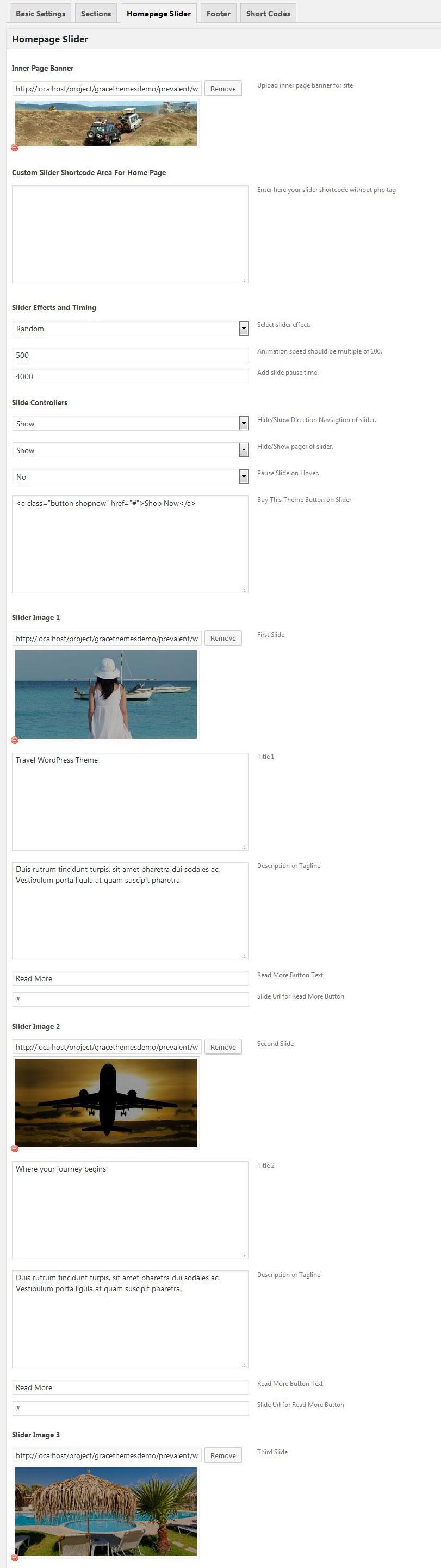 Prevalent Theme Documentation