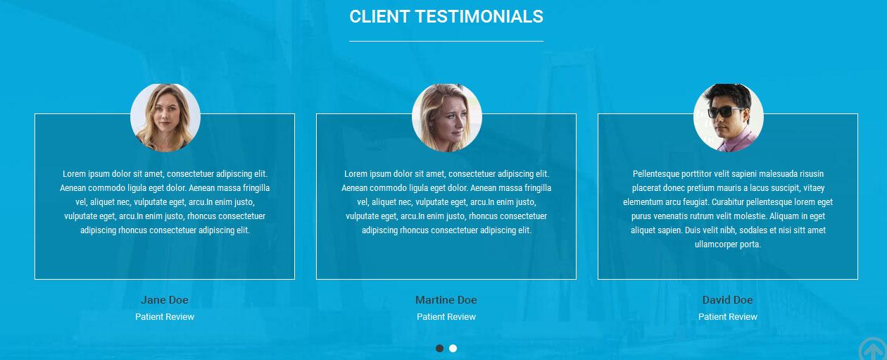 Clients Testimonials  >> Pulsing Theme Documentation