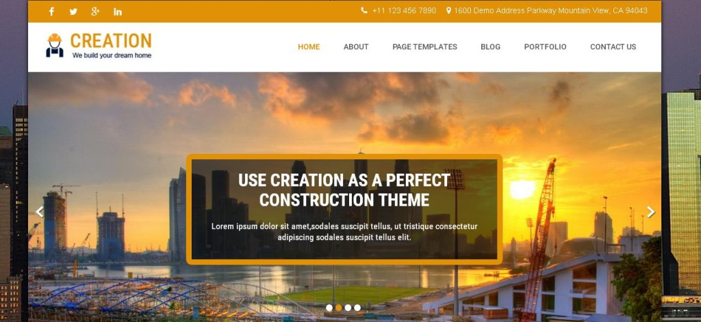 Creation free WordPress Themes