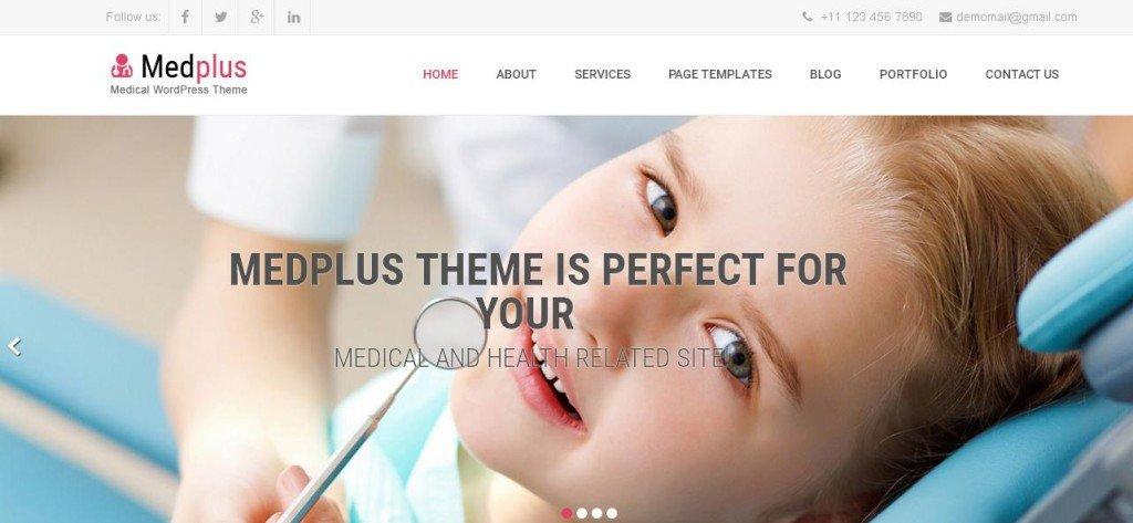 MedPlus Free WordPress Themes