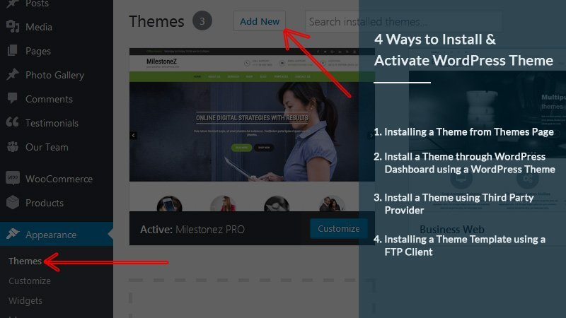 4 Ways to Install & Activate WordPress Theme   Grace Themes
