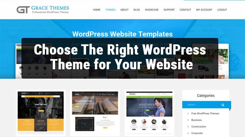 Choose The Right WordPress Theme