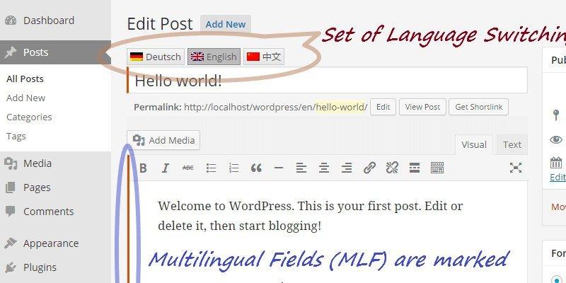 WordPress multilingual websites