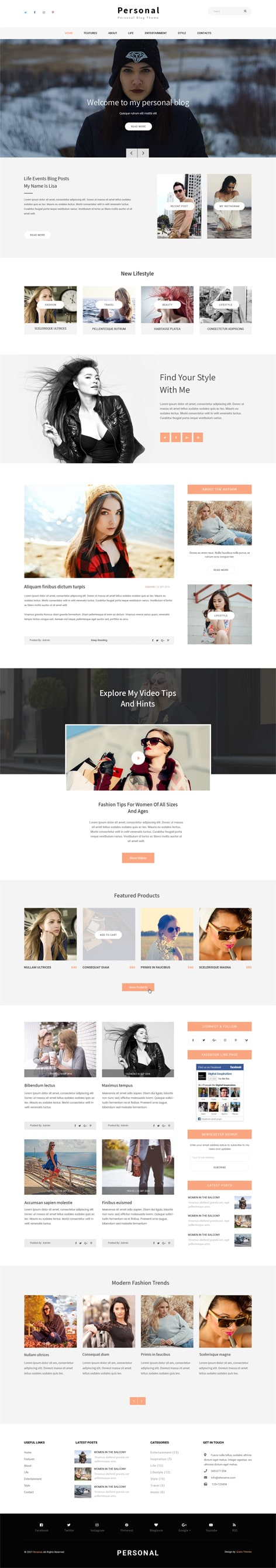 WordPress Website Templates and Themes by GraceThemes