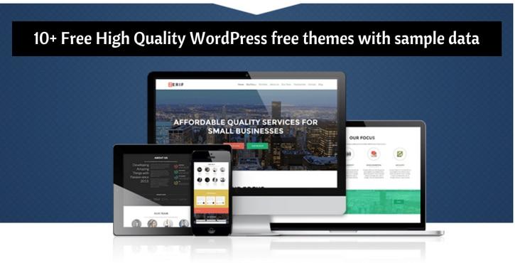 WordPress Free Themes With Sample Data