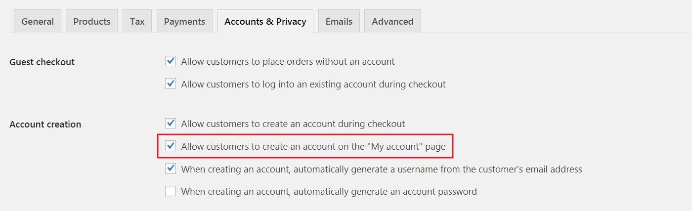 Registration Form to WooCommerce