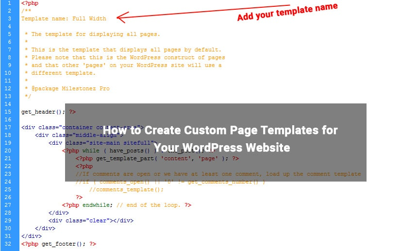 How to Create Custom Page Templates for Your WordPress Website ...