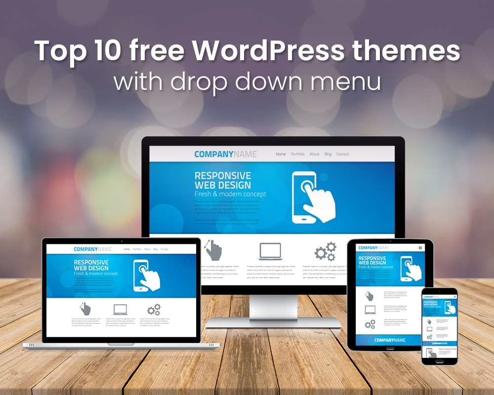 Top 10 Free Wordpress Themes With Drop Down Menu Grace Themes