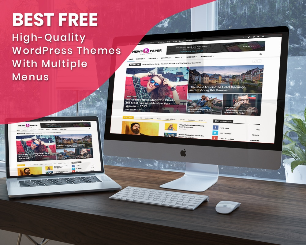 Best Free High-Quality WordPress Themes with multiple menus