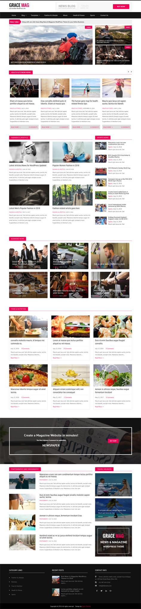 Wordpress website templates and themes by gracethemes grace mag pro flashek Choice Image