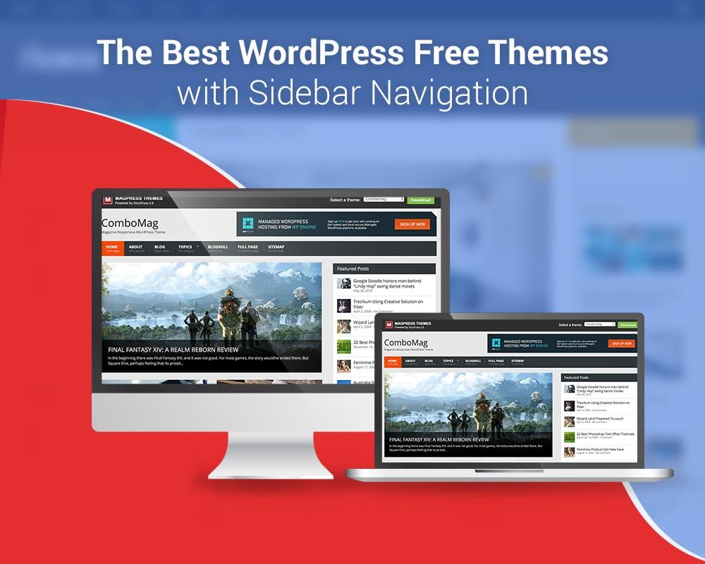 WordPress free Themes with Sidebar Navigation