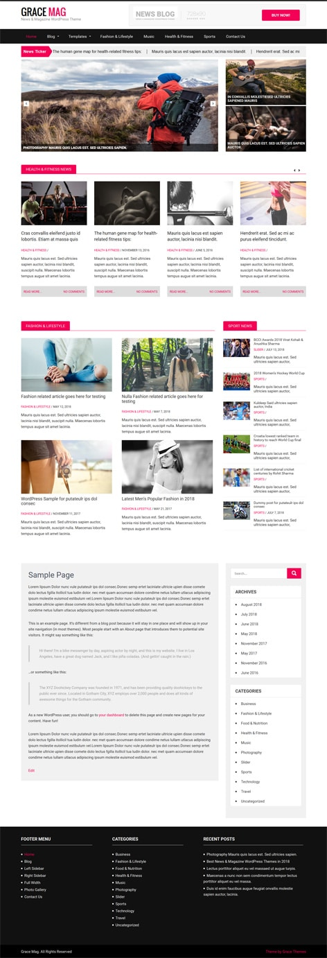 30+ Business professional free Wordpress Themes with Responsive ...