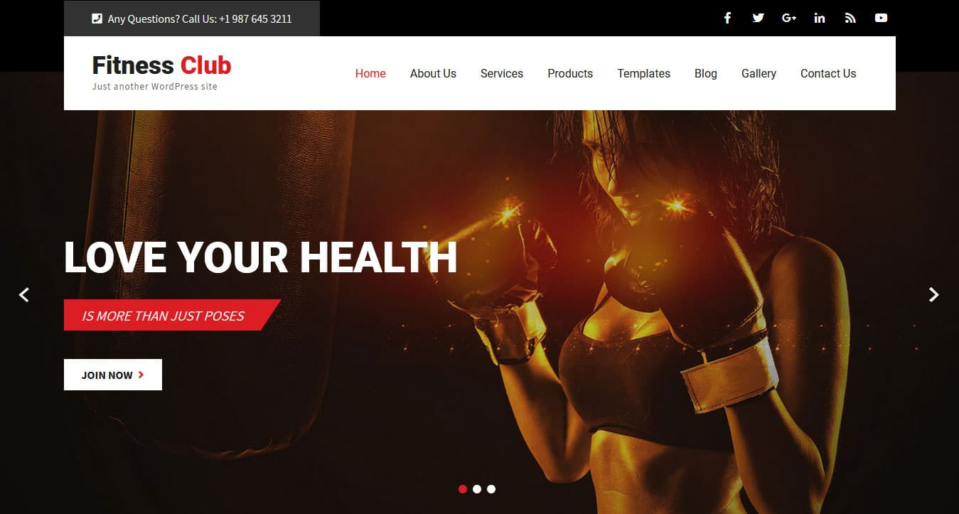 Personal Trainer WordPress Theme