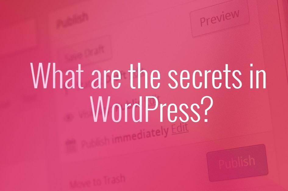 Secrets in WordPress