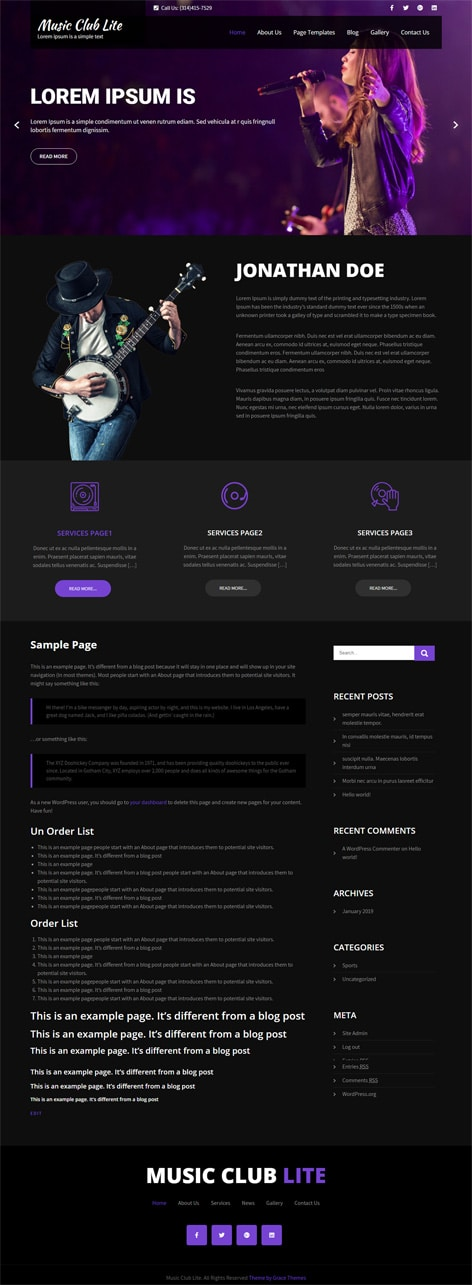 30+ Business professional free Wordpress Themes with