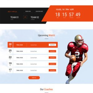 Sports League WordPress Theme