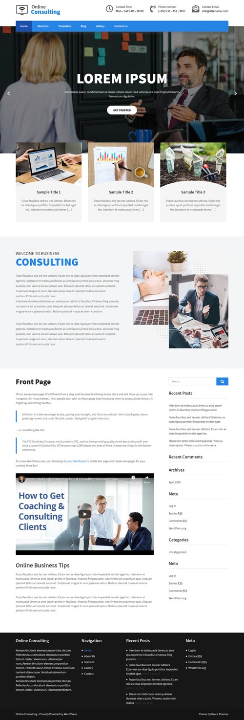 30+ Business professional free Wordpress Themes with Responsive