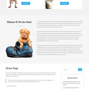 Free Pet Care WordPress Theme