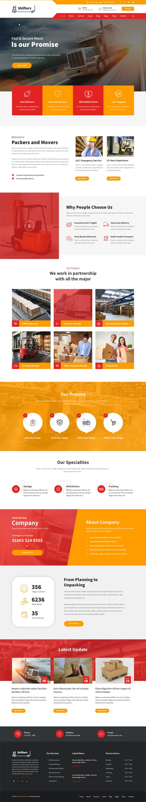 Logistics WordPress Theme for Logistic & Warehouse Website