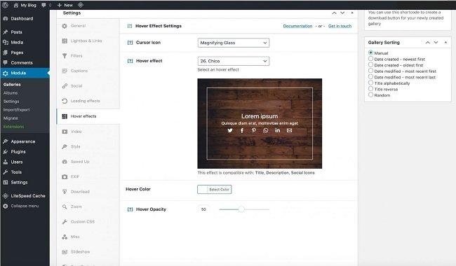 Modula customize your gallery