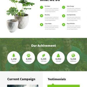 Greenest Environment WordPress Theme