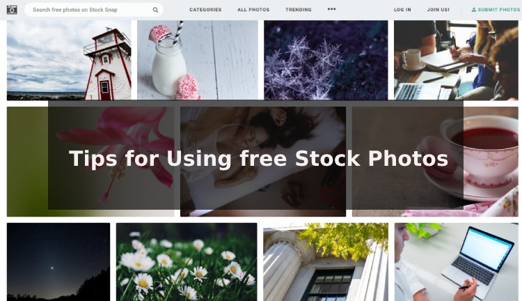 Tips for Using free Stock Photos